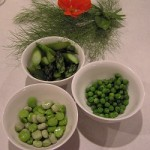 Asparagus Broad Beans Peas ready to go