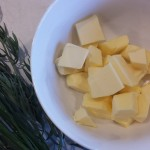Butter and herbs