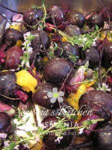 Beetroot roasting with Thyme Garlic & Orange