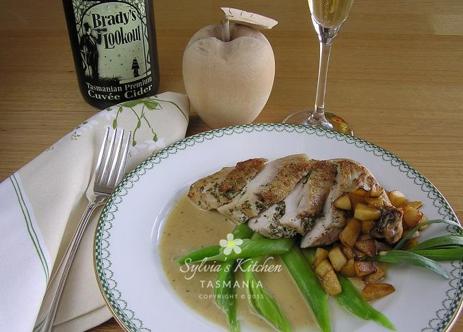 Tarragon Chicken with Cider Mustard and Cream