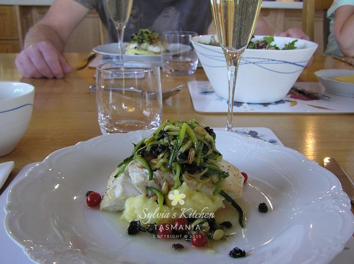 Sylvia's Tasmanian Blue-Eye Trevalla with Steve's Garlic Mash