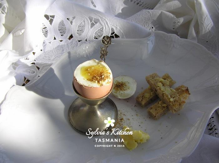 Boiled Egg Butter Soldiers Dukkah