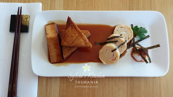 Sylvia's Teriyaki Tofu Japanese Rolled Omelette