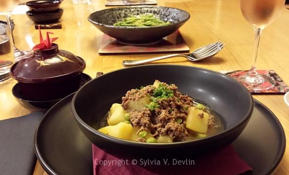 Japanese Simmered Beef Potatoes Peas