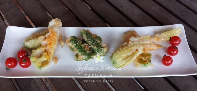 Sylvia's Fried Zucchini Flowers